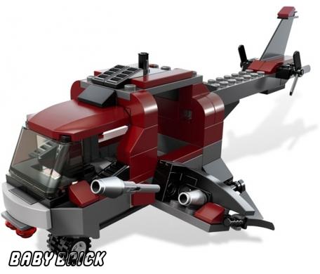 Lego 6866 вертолет росомахи wolverine chopper s down