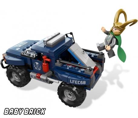 Lego 6867 побег локи с космическим кубом