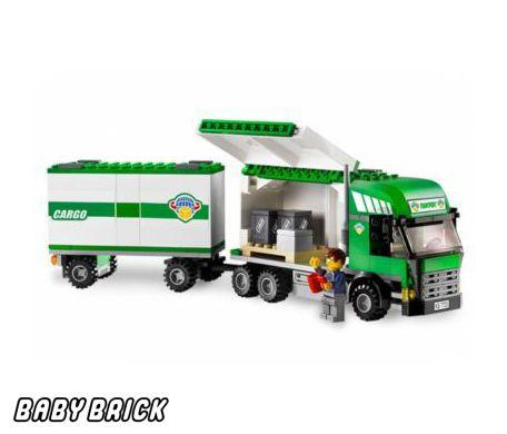 Как сделать из лего грузовик с прицепом