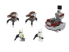 ����������-����� ������ ��������� - Clone Troopers vs. Droidekas Battle Pack  (Lego 75000)
